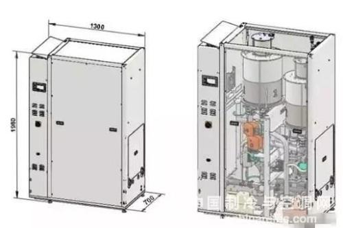 压缩机 这款产品系统原理如下图,主要由蒸发器,冷凝器和离心式压缩机